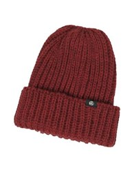 Paul Smith Thick Knit British Wool Men's Beanie Hat Burgundy
