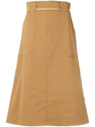Mantu Side Button Skirt Nude And Neutrals