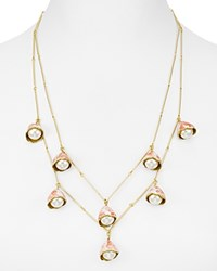 Tory Burch Layered Rosary Necklace 22 Ivory