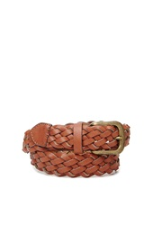 Forever 21 Braided Faux Leather Belt Brown