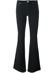 Michael Michael Kors Mid Rise Flared Jeans Black