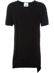Lost And Found Rooms Shortsleeved Asymmetric Sweater Black