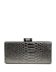 Jessica Mcclintock Python Frame Convertible Clutch Pewter