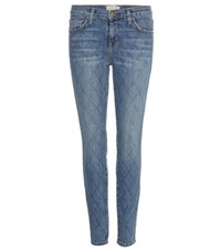 Current Elliott The Stiletto Quilted Jeans Blue