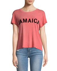 Wildfox Couture Jamaica Short Sleeve Graphic Tee Red