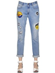 Stella Mccartney Skinny Boyfriend Patches Denim Jeans