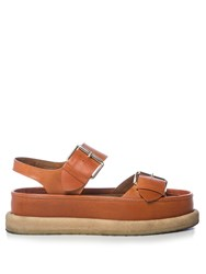 Stella Mccartney Submerge Faux Leather Flatform Sandals Tan