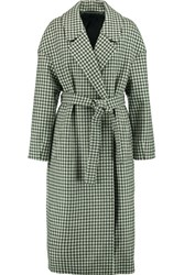Mother Of Pearl Blair Gingham Boucle Coat Green