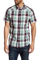 Lucky Brand Western Plaid Short Sleeve Regular Fit Shirt Multi