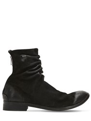 The Last Conspiracy Wrinkled Washed Leather Ankle Boots Black