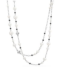 David Yurman Oceanica Cultured Freshwater Pearl And Bead Link Necklace With Black Spinel White Black