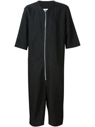 Chapter Cropped Zipped Jumpsuit Black