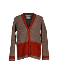 White Mountaineering Cardigans Brown