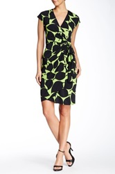 Maggy London Printed Wrap Dress Green