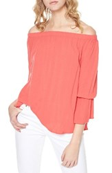 Sanctuary Petite Women's Off The Shoulder Blouse Mozambique