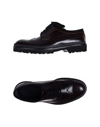 Marni Lace Up Shoes Dark Brown