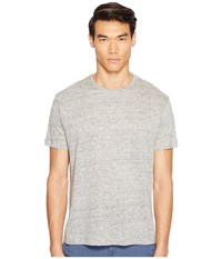Atm Anthony Thomas Melillo Linen Relaxed Fit Crew Neck Tee Heather Grey Men's T Shirt Gray