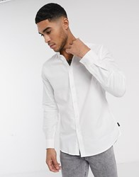 Soul Star Oxford Shirt In White