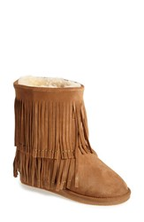 Koolaburra Women's 'Savannity Ii' Genuine Shearling Fringe Boot 2 Heel