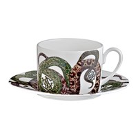 Roberto Cavalli Snakes Tazza Teacup And Saucer Set Of 6