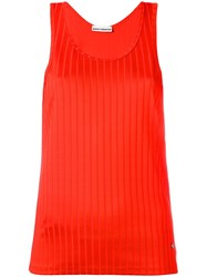 Paco Rabanne Ribbed Top Red