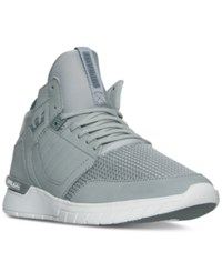 Supra Men's Method Casual Skate Sneakers From Finish Line Grey White