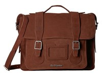 Dr. Martens 15 Leather Satchel Brown Suede Satchel Handbags