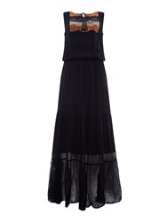 Label Lab Embrodiered Front Maxi Blue