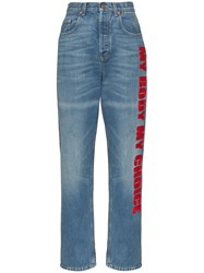 Gucci My Body My Choice Straight Leg Jeans 60
