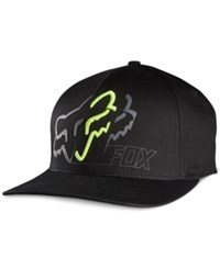 Fox Men's White Knuckled Flex Fit Hat Black