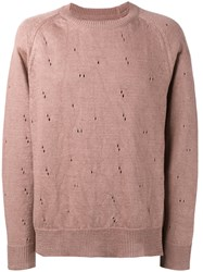 Our Legacy Distressed Sweater Pink And Purple