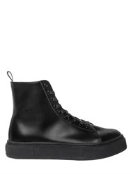 Eytys Kibo Polished Leather High Top Sneakers