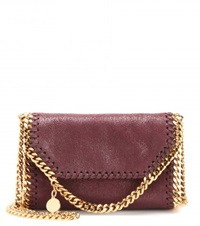 Stella Mccartney Falabella Shaggy Deer Tiny Shoulder Bag Purple