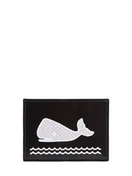 Thom Browne Whale Patch Brushed Leather Card Holder