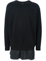 3.1 Phillip Lim Shirt Style Hem Sweatshirt Black
