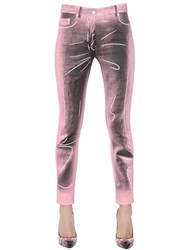 Moschino Shadows Stretch Cotton Gabardine Pants
