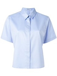 Alexander Wang T By Cropped Shirt Blue