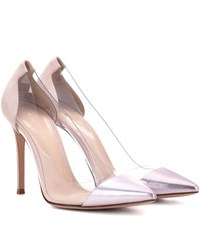 Gianvito Rossi Exclusive To Mytheresa.Com Plexi Metallic Leather Pumps Pink
