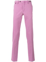 Pt01 Skinny Trousers Pink Purple