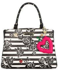 Betsey Johnson Floral Satchel Only At Macy's Stripe