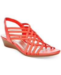 Impo Refresh Stretch Wedge Sandals Women's Shoes Coral