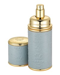 Logo Etched Leather Atomizer Gold Gray Creed