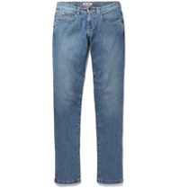 Loro Piana Tasche Slim Fit Washed Denim Jeans Indigo