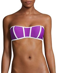 Design Lab Lord And Taylor Bandeau Swim Top Violet