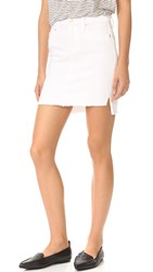 Joe's Jeans High Low Hem Skirt Optic White