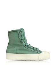 Maison Martin Margiela Mm6 Mint Green Canvas Sneakers