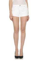 Joe's Jeans Women's Raw Edge Cuffed Denim Shorts