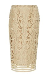 N 21 No. Edna Lace Pencil Skirt Tan