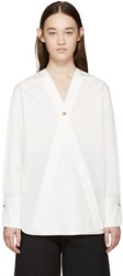 Christophe Lemaire White Poplin Wrap Shirt