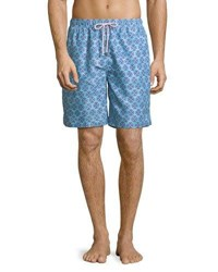 Peter Millar Dragonflies Swim Trunks Light Blue